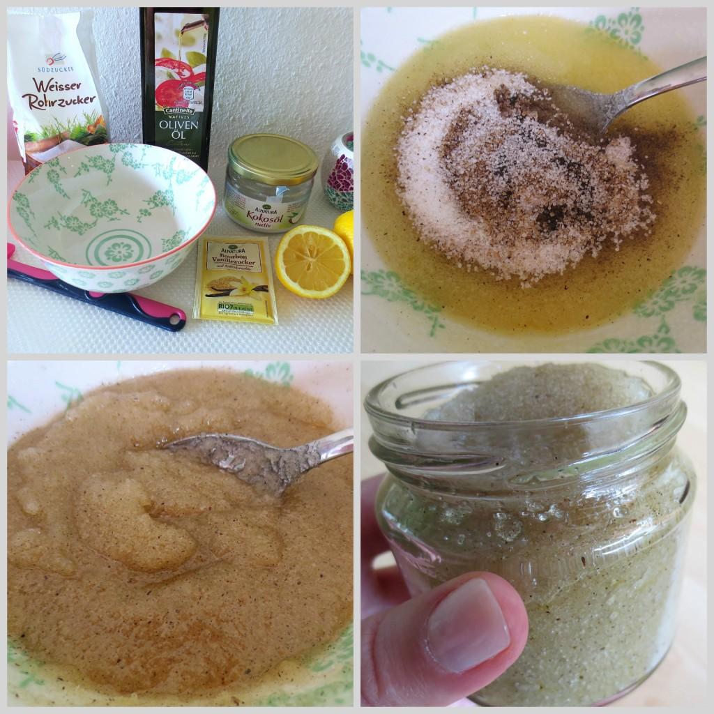 Fruchtig-spritziges DIY Körperpeeling mit frischem Zitronensaft