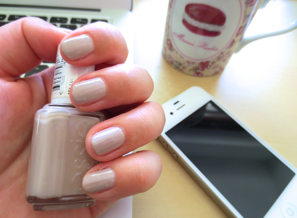 Essie Sand Tropez on nails