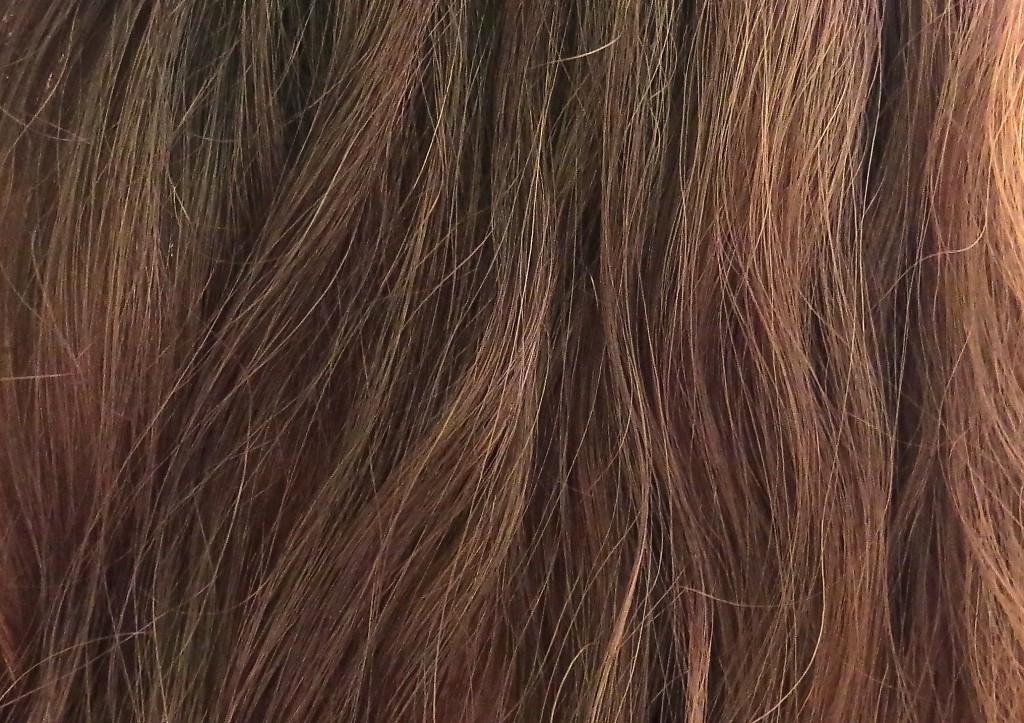 Meine Haare nach Verwendung der Garnier Fructis Seidige Versiegelung Creme Kur