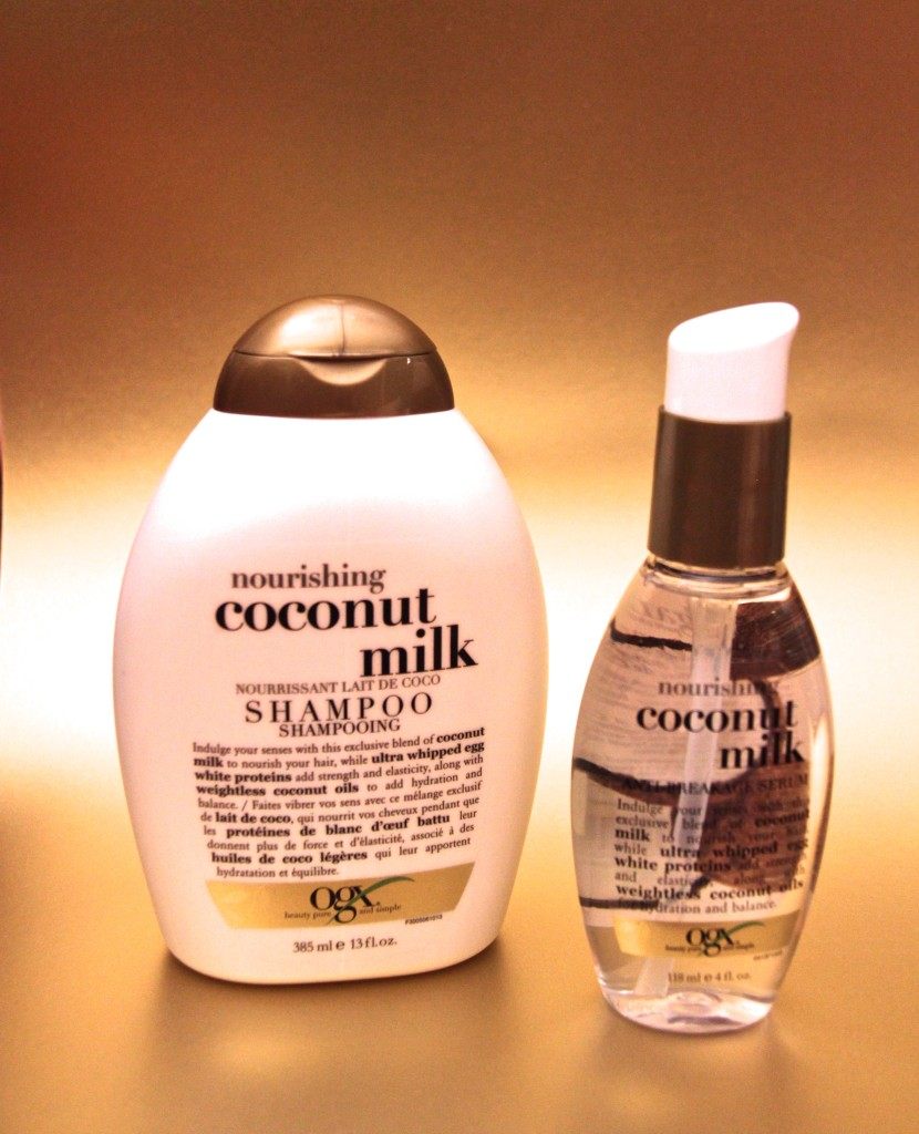 Review: OGX Coconut Milk Shampoo und Anti-Breakage Serum