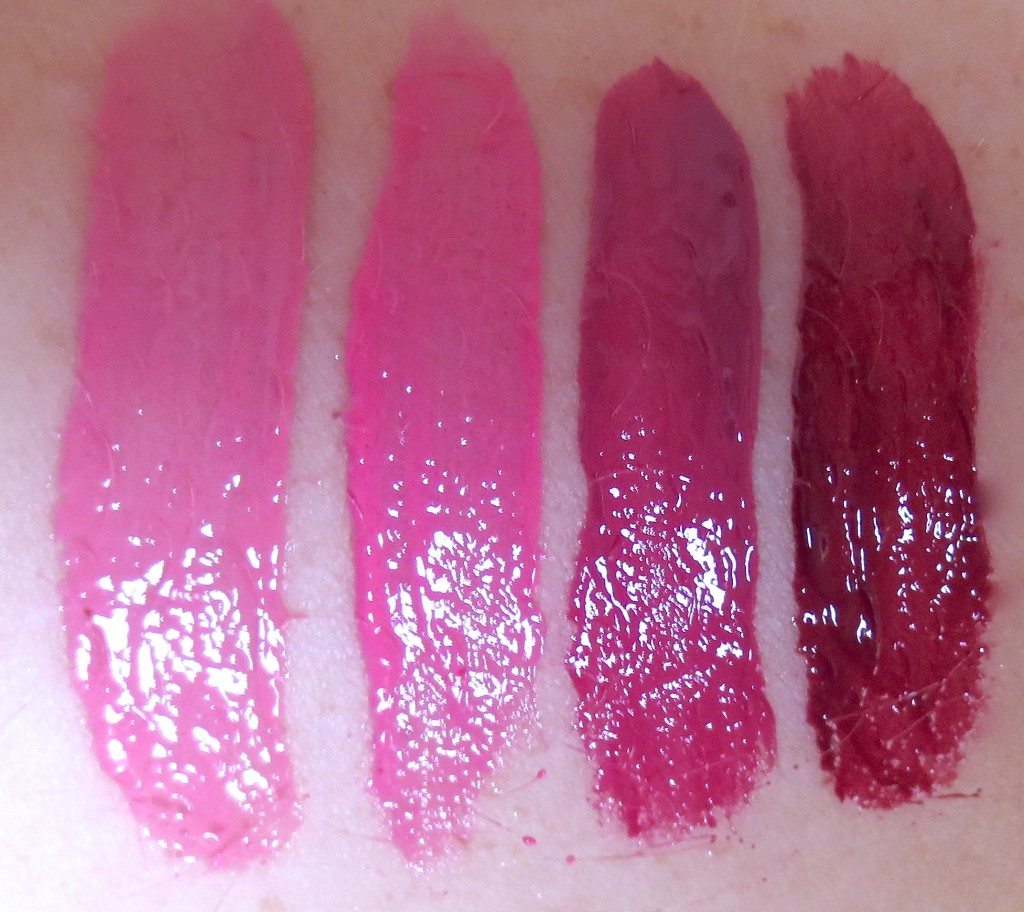 P2 Pretty 60s Pure Harmony Stack Lipgloss Pink Swatches