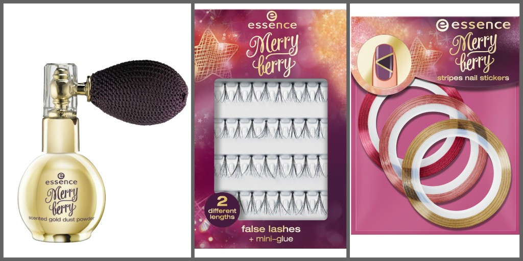Essence Merry Berry Gold Dust Powder Collage