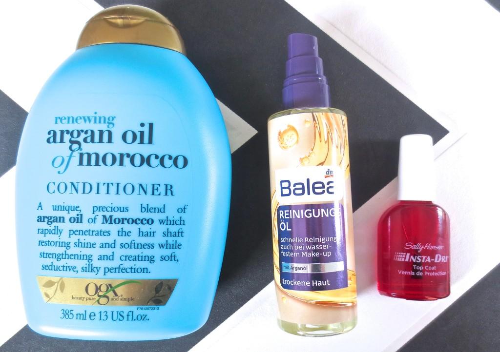 Balea Reinigungsöl OGX Argan Conditioner Sally Hansen Insta-Dry