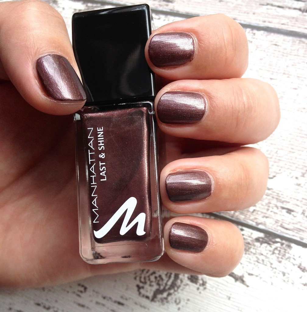 Manhattan Last and Shine Nagellack Hot Brownie