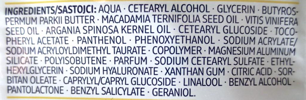 Balea Creme-Öl Maske Inhaltsstoffe