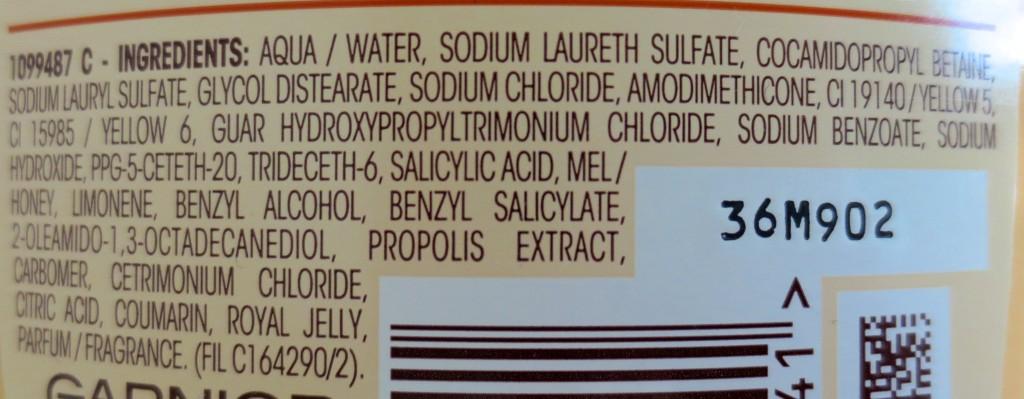 Garnier Wahre Schätze Honig Geheimnisse Shampoo Incis