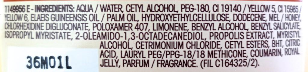 Garnier Wahre Schätze Honig Geheimnisse Spülung Inhaltsstoffe