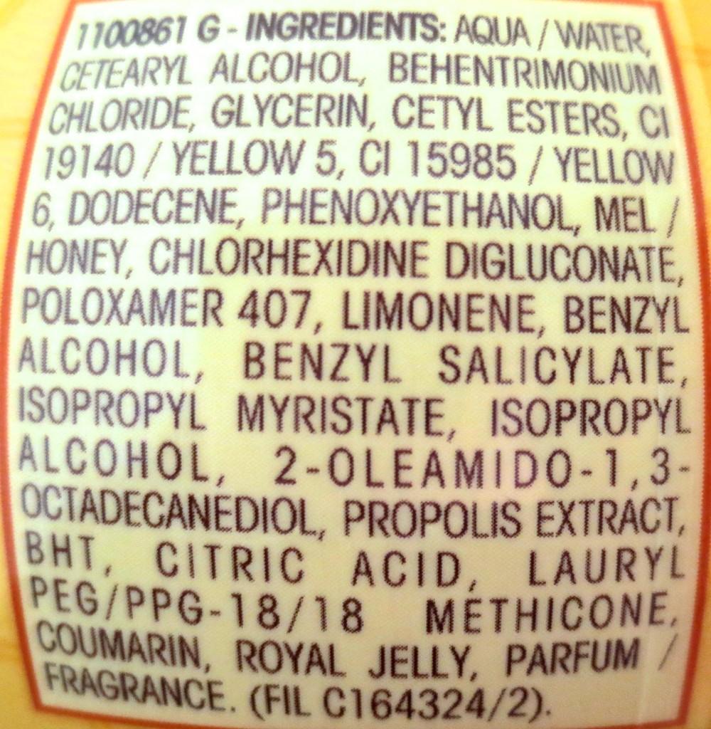 Garnier Wahre Schätze Honig Geheimnisse Tiefenpflegemaske Inhaltsstoffe
