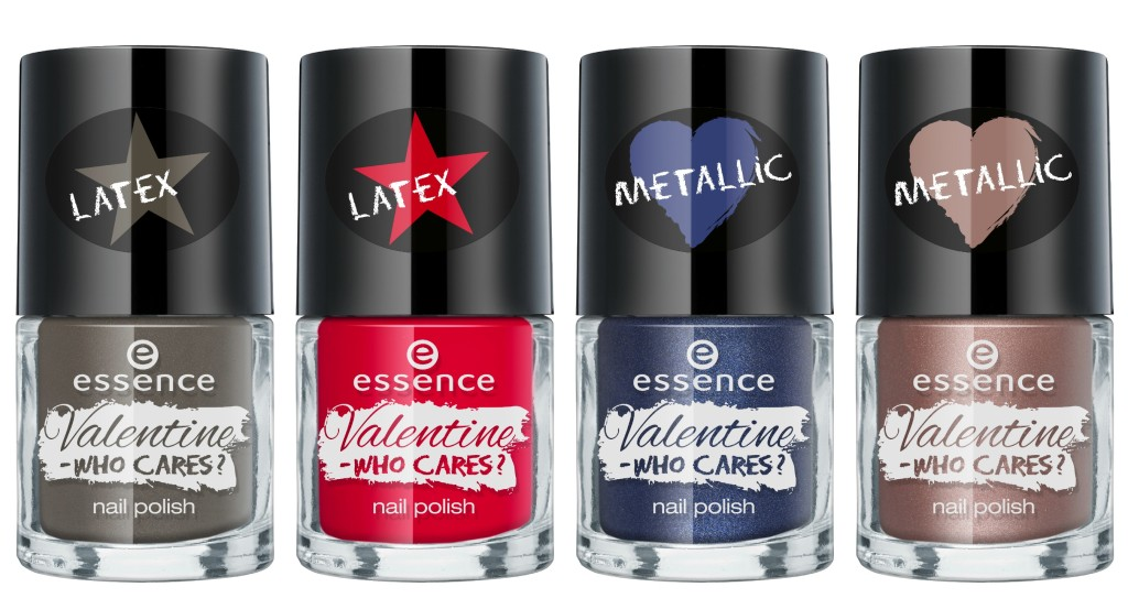 Essence Valentine Who Cares Nail Polish Collage