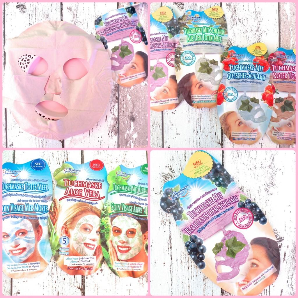 Montagne Jeunesse Tuchmasken Collage
