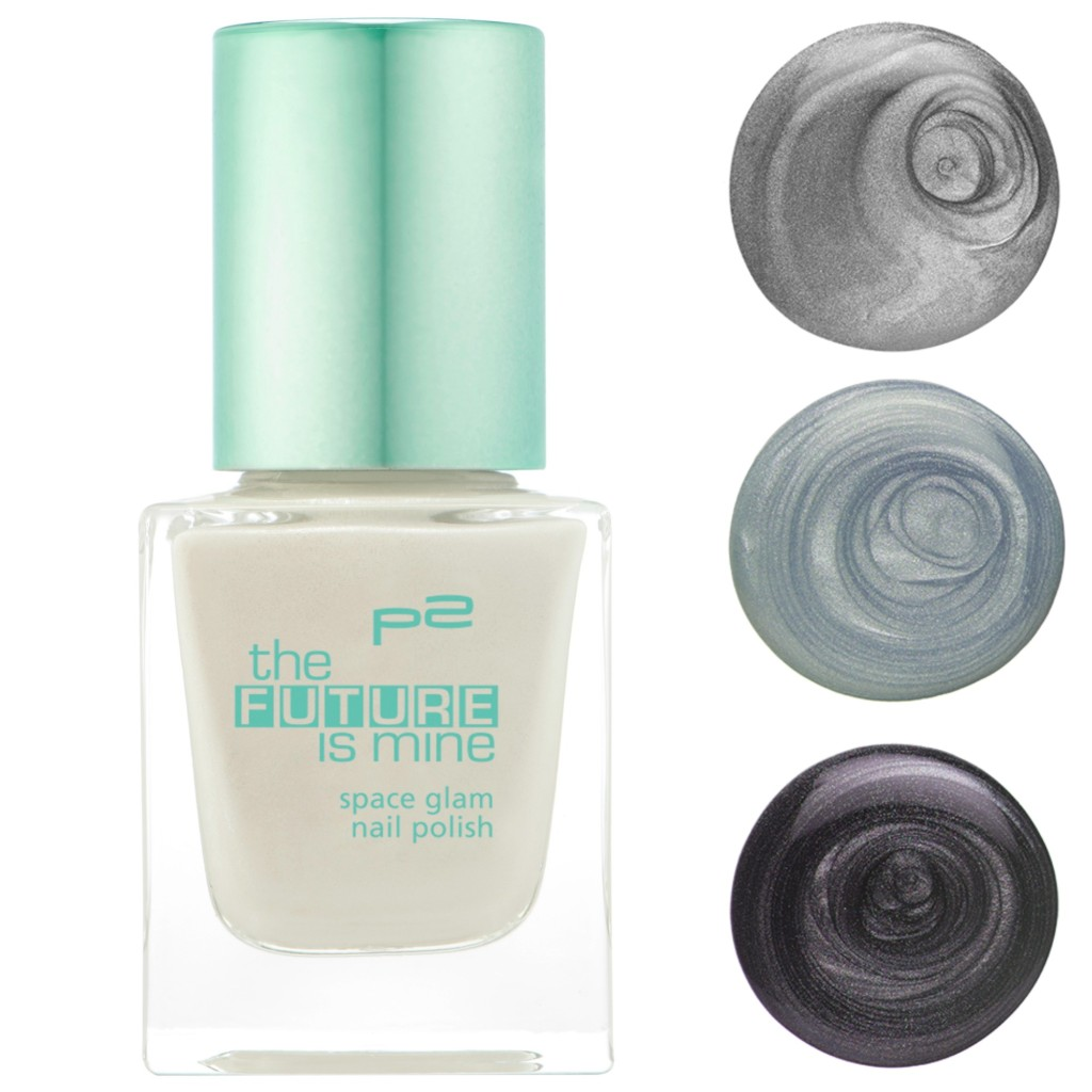 P2 the future is mine space glam nail polish Collage