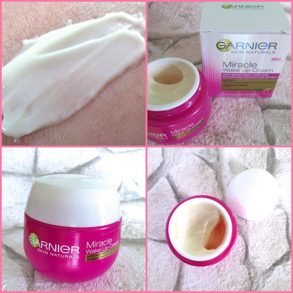 Garnier Miracle Wake up Cream Collage