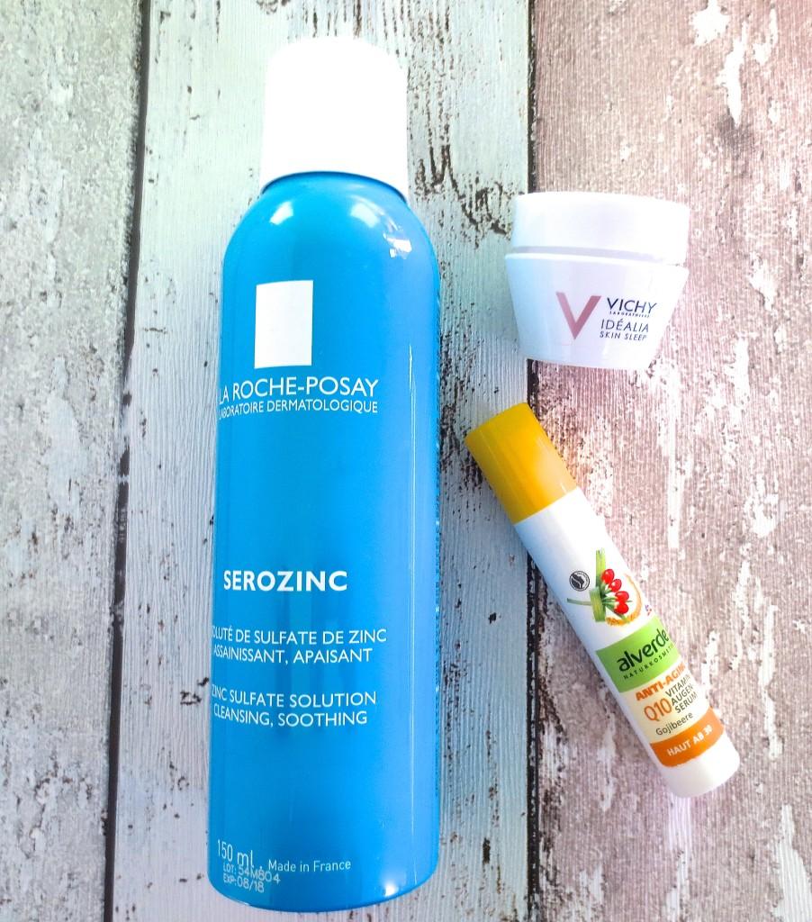 Empties La Roche Posay Serozinc Alverde Q10 Vitamin Augen Serum Vichy Idealia Skin Sleep