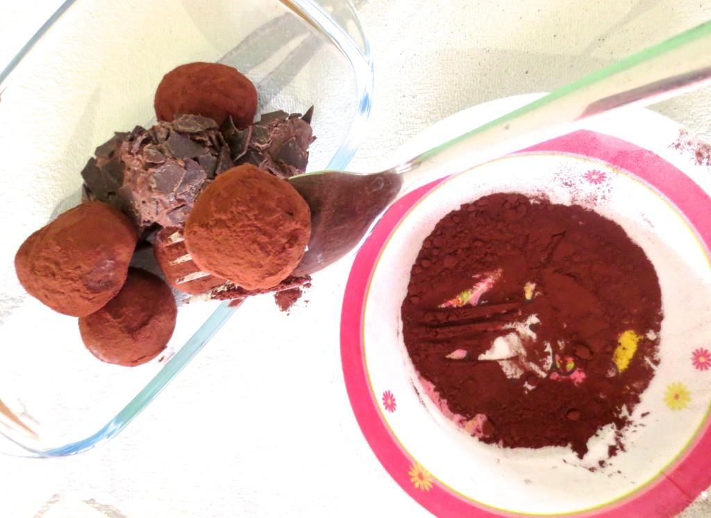 Valentinstag Pralinen selber machen Truffles