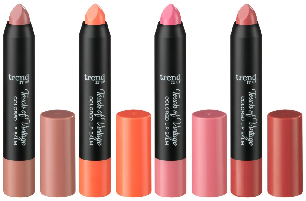 Trend it up Touch of Vintage Colored Lip Balm Collage