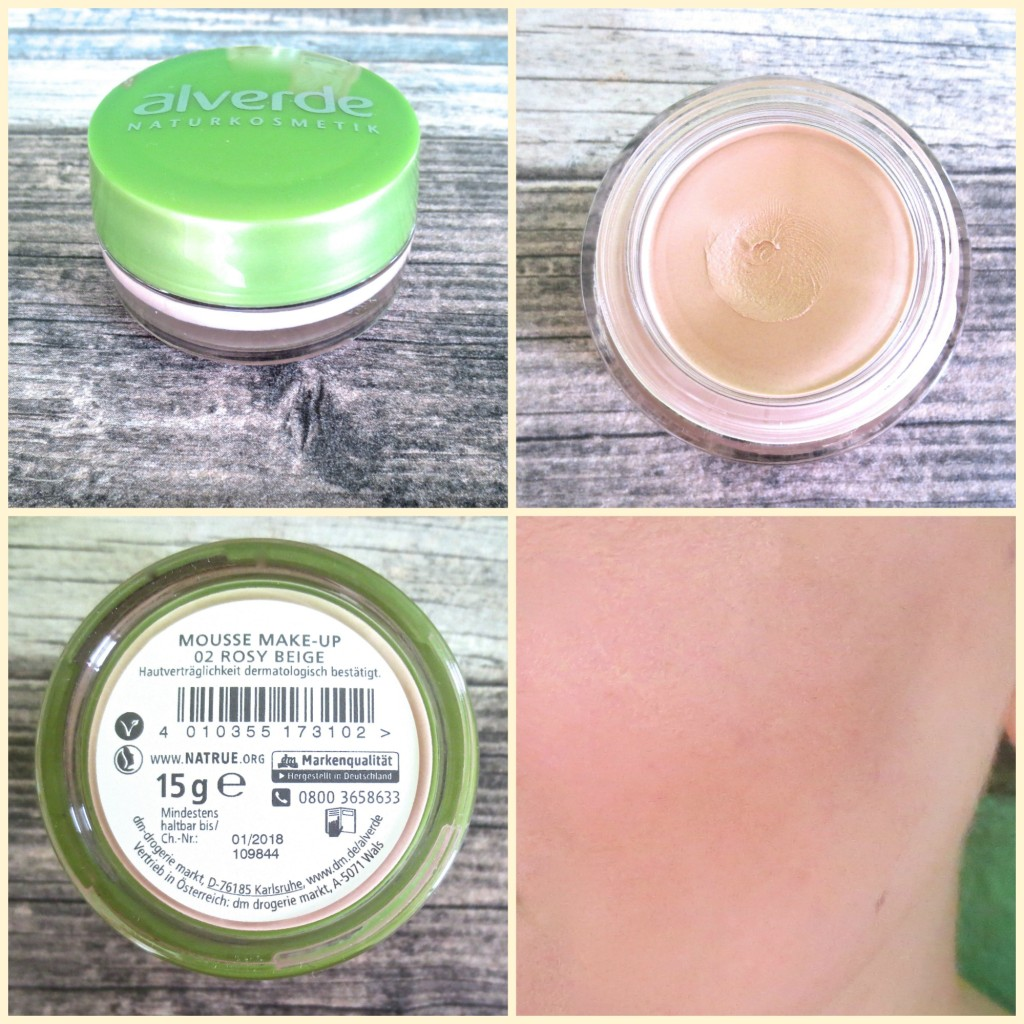 Alverde Mousse Make-up 02 Rosy Beige Collage