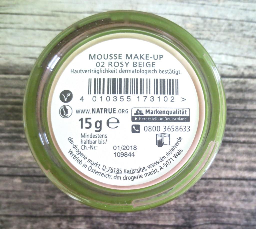 Alverde Mousse Makeup 02 Rosy Beige 4