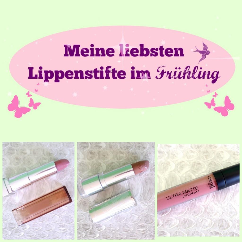 Blogparade Liebste Lippenstifte im Frühling Collage