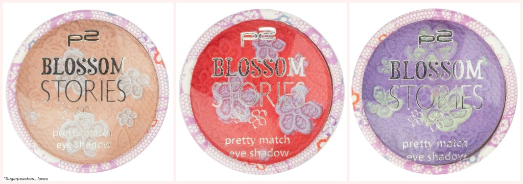 P2 Blossom Stories pretty match eye shadow Collage