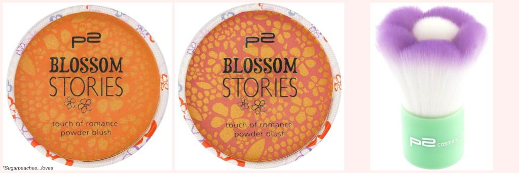 P2 Blossom Stories touch of romance powder blush and kabuki
