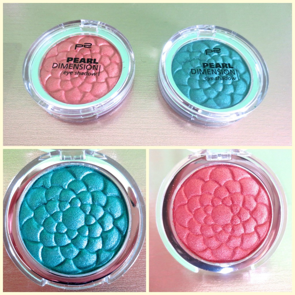 P2 Pearl Dimension Eye Shadow Collage