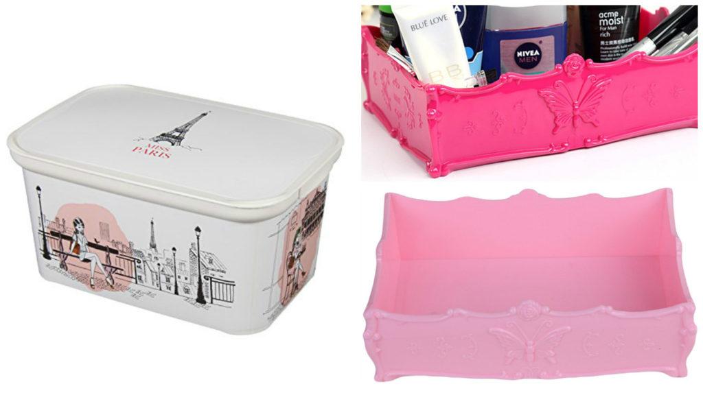 Aufbewahrung girly pink collage