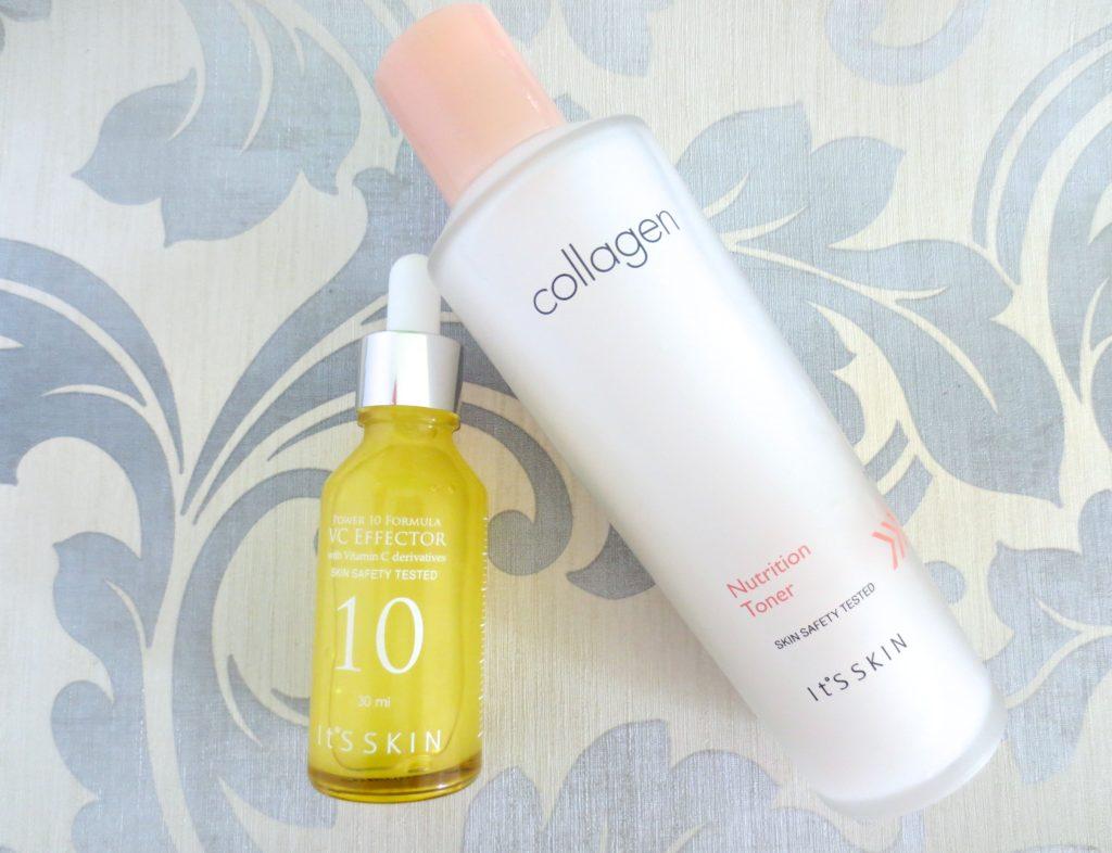 It's Skin Collagen Toner und Power 10 Formula VC Effector
