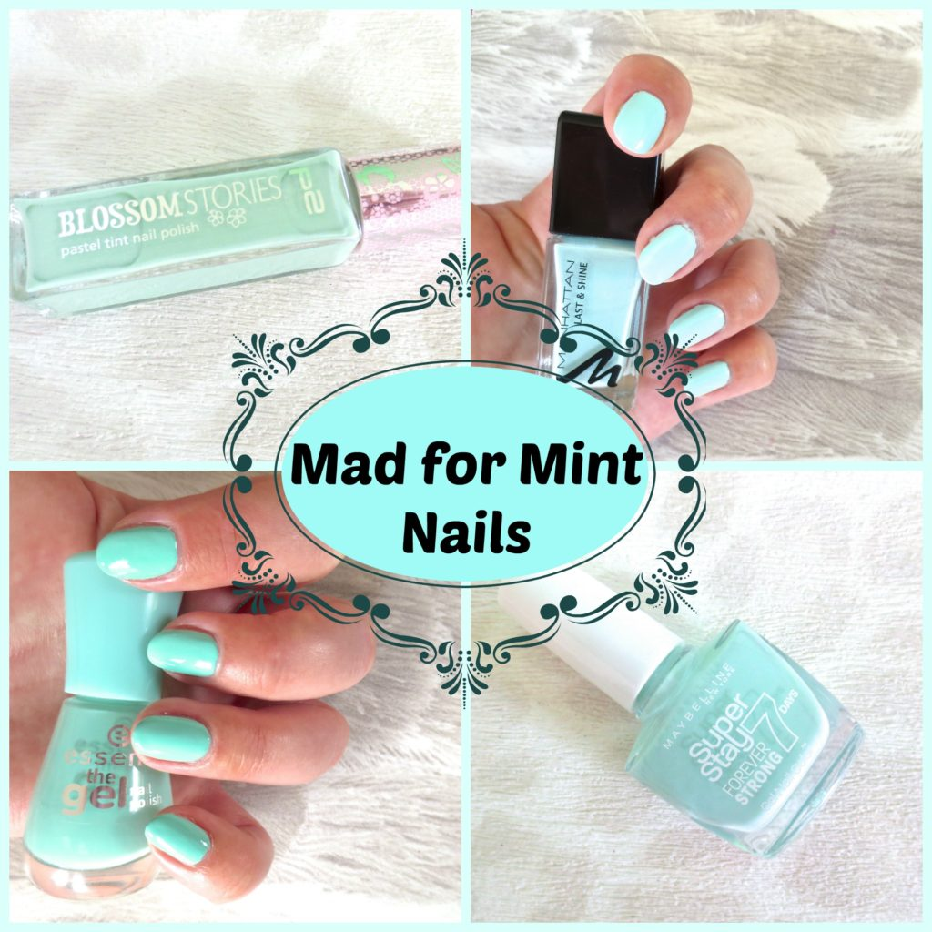 Mad for Mint Nails Collage