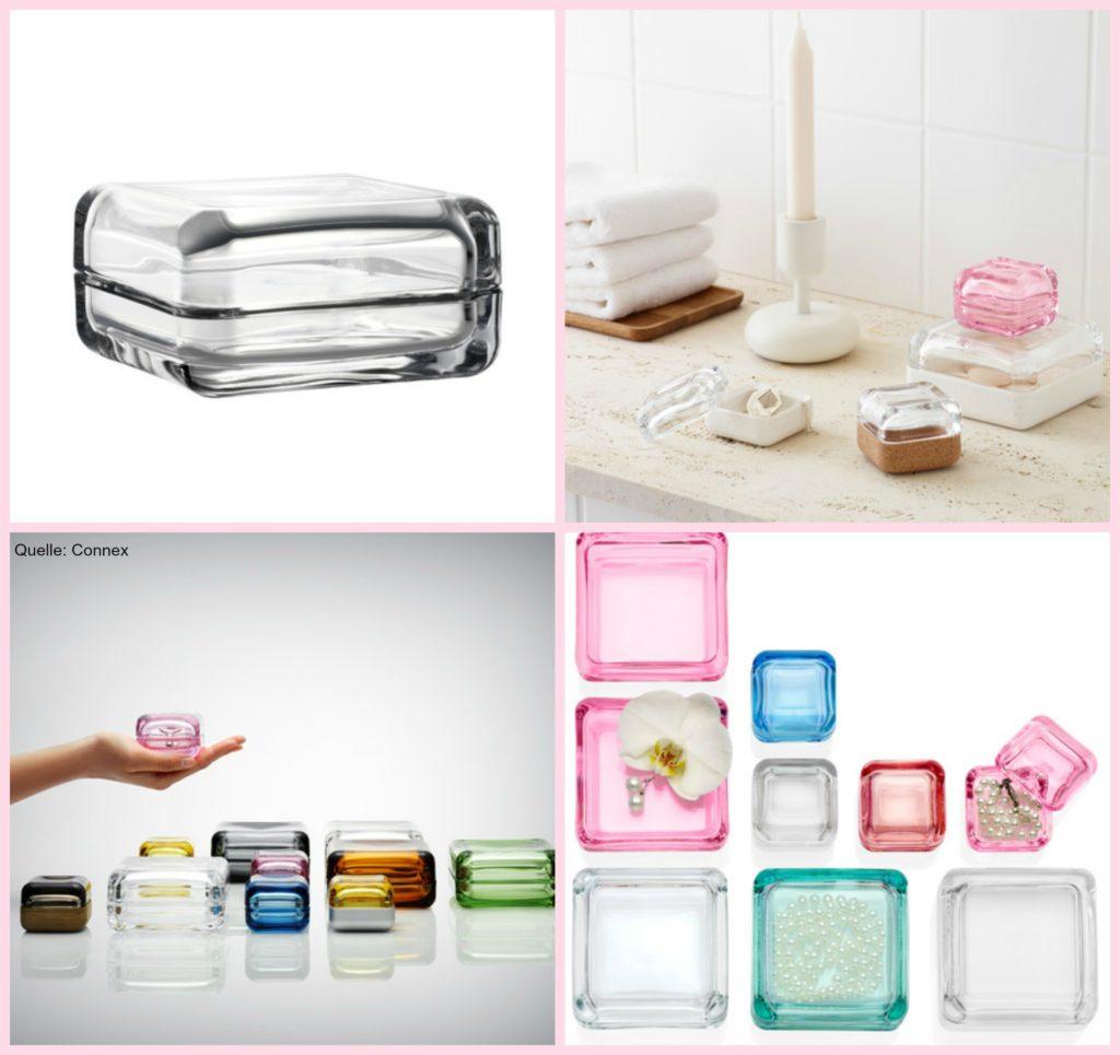 Makeup Aufbewahrung Glas Collage