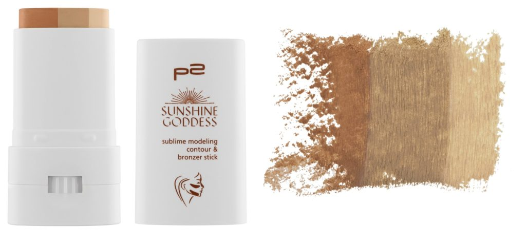 P2 Sunshine Goddess sublime modeling contour & bronzer stick Collage