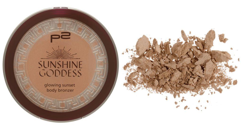 P2 sunshine goddess glowing sunset body bronzer Collage