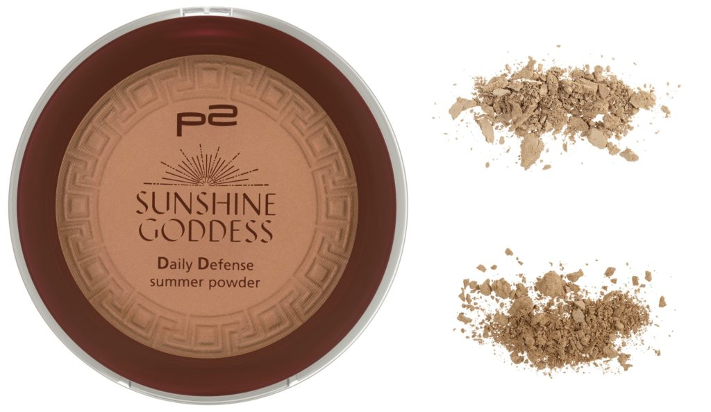 p2 Sunshine Goddess Daily Defense summer powder Collage