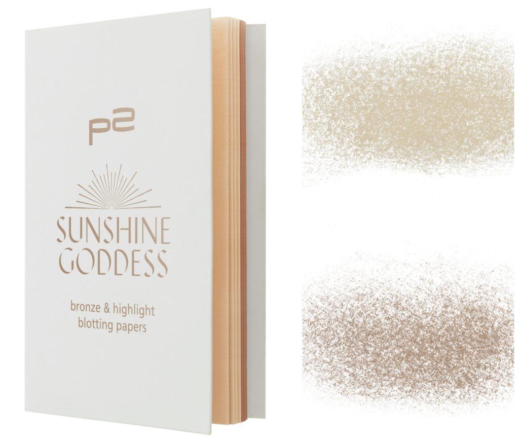p2 Sunshine Goddess bronze highlighting blotting paper Collage