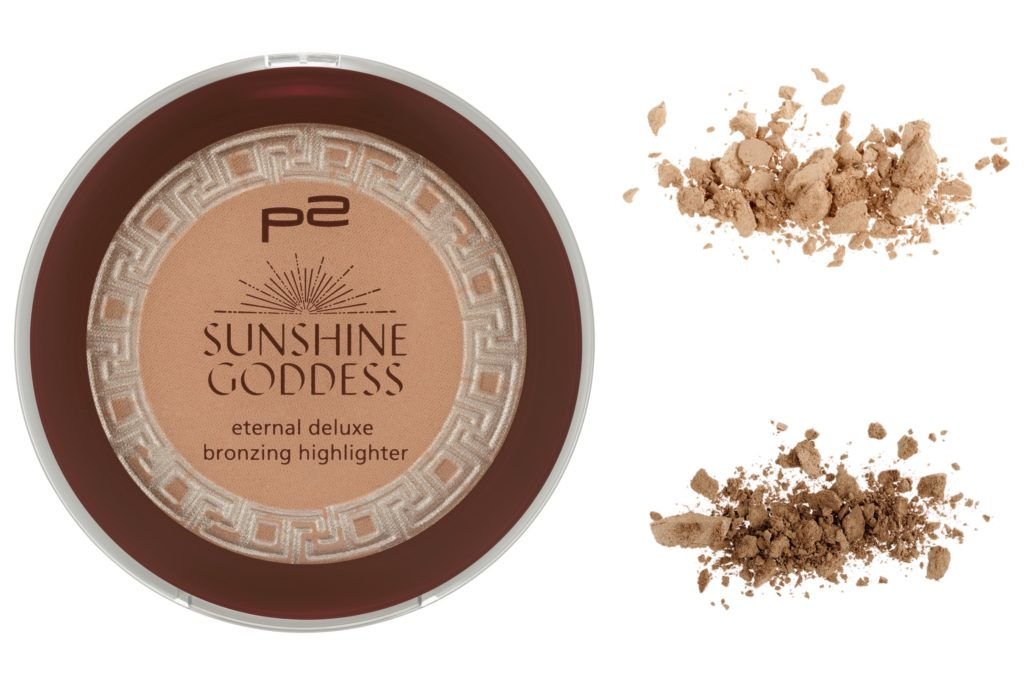p2 Sunshine Goddess eternal deluxe bronzing highlighter Collage