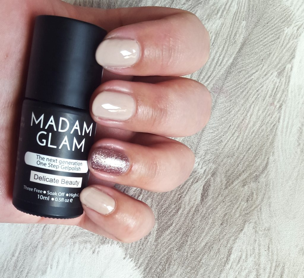 Madam Glam One Step Gel Polish Delicate Beauty Swing All Night