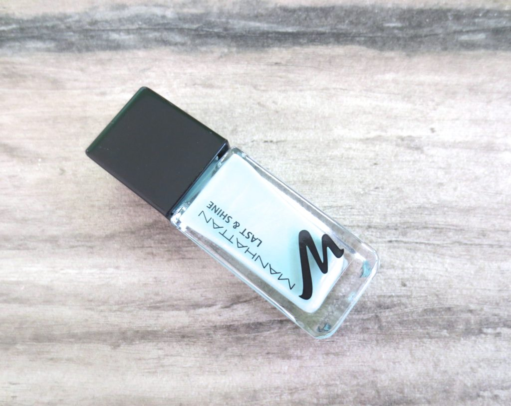 Beauty Favoriten April 2016 Manhattan Last and Shine Nagellack 800 mint hint