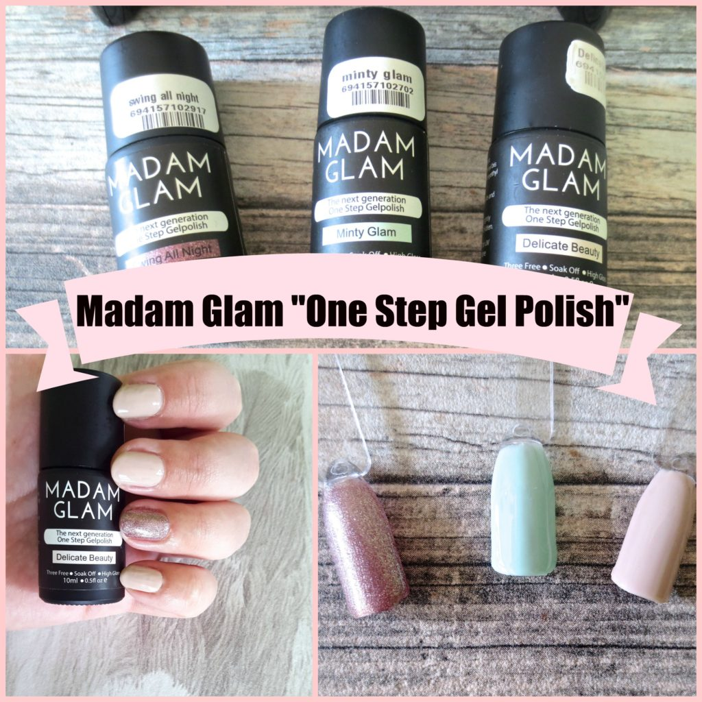 Madam Glam One Step Gel Polish Collage