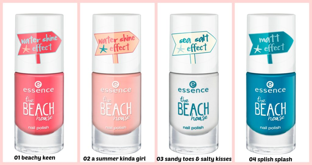 essence the beach house nail polish Collage