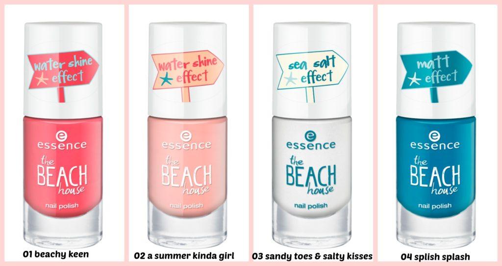 essence the beach house nail polish Collage