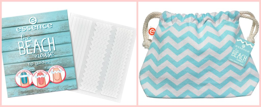 essence the beach house tip guides and beach bag Collage