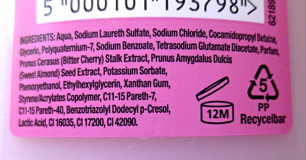 Original Source Shower Milk Kirsche und Mandelmilch Inhaltsstoffe
