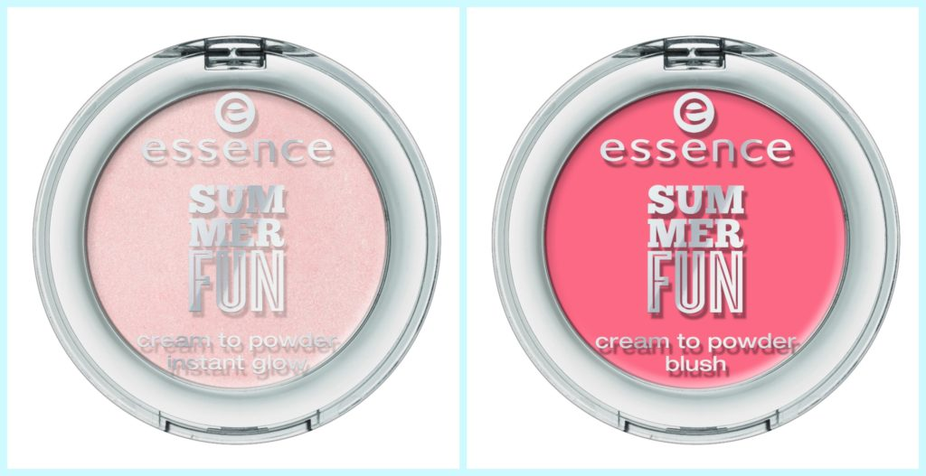 essence summer fun highlighter und blush Collage