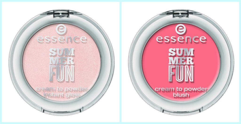 essence summer fun highlighter und blush Collage