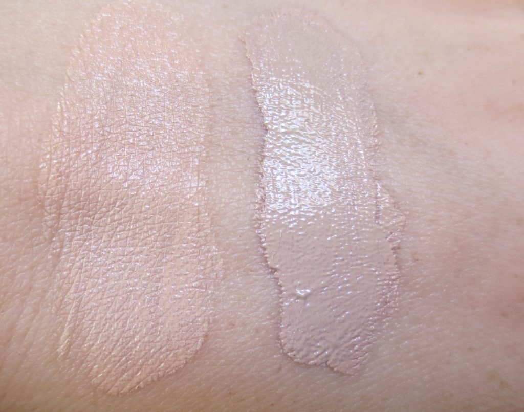 Missha Magic Cushion Moisture Swatch vs. Perfect Cover BB Cream Nr. 21