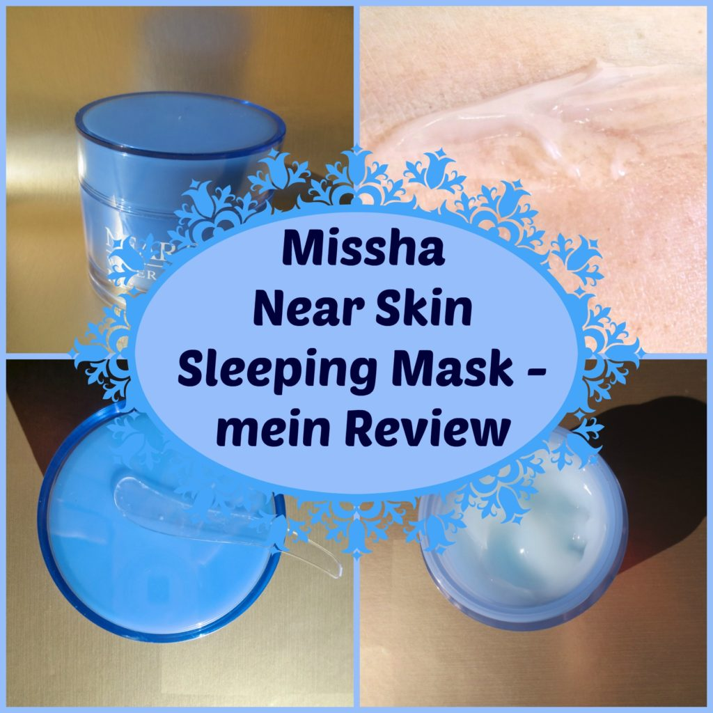 Missha Near Skin Sleeping Mask Collage