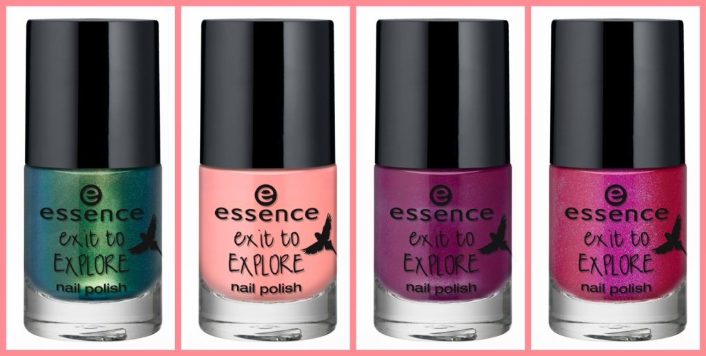 essence exit to explore nail polish collage