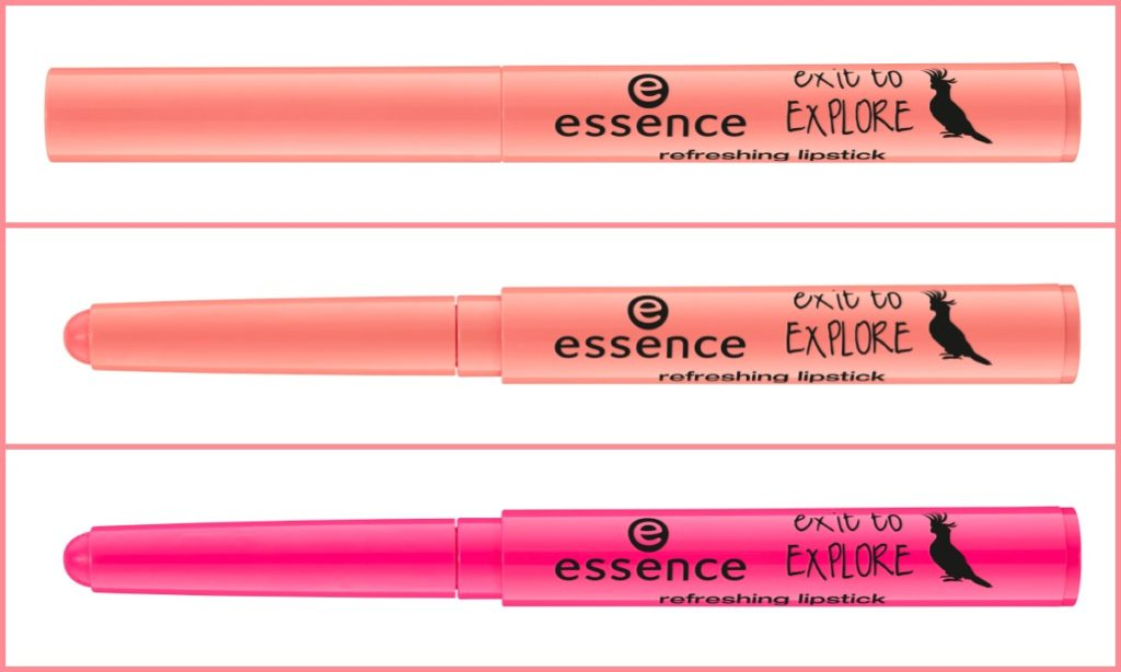 essence exit to explore refreshing lipstick Collage