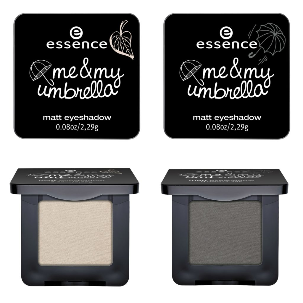 essence me & my umbrella matt eyeshadow Collage