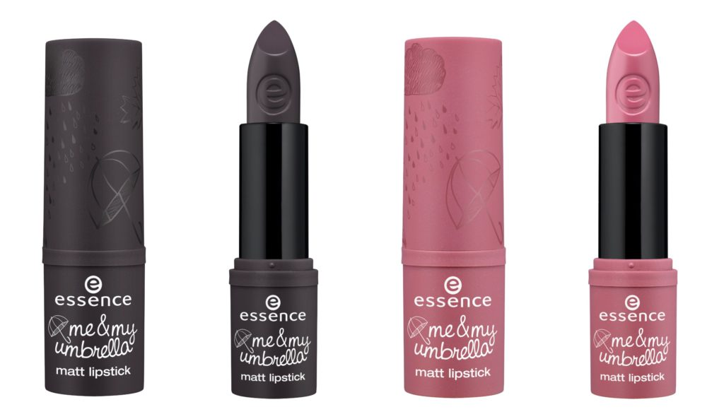 essence me & my umbrella matt lipstick Collage