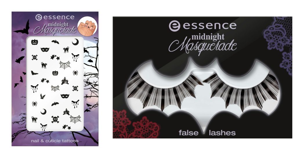 Essence Midhnight Masquerade Nail Tattoos and False Lashes Collage